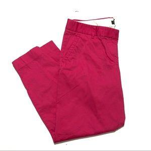 J.Crew City Fit Pink Capri Pants Sz 8